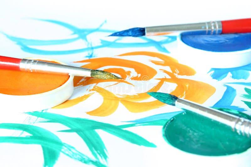Creative - Brush & Color Stock Photo