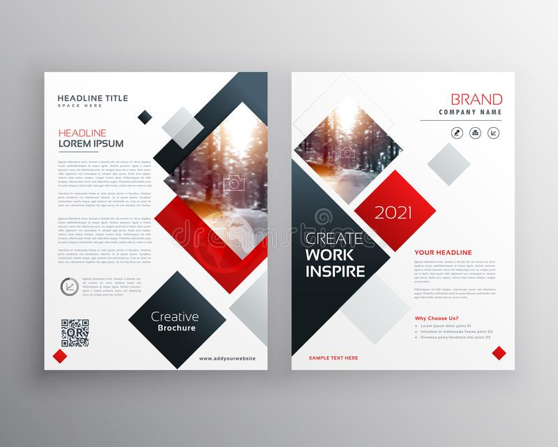Creative business brochure template design in size A4. Vector royalty free illustration