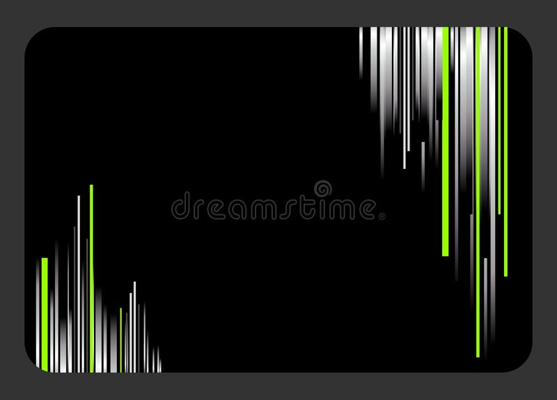 Creative Business Card With Green And Silver Strip Stock Photography