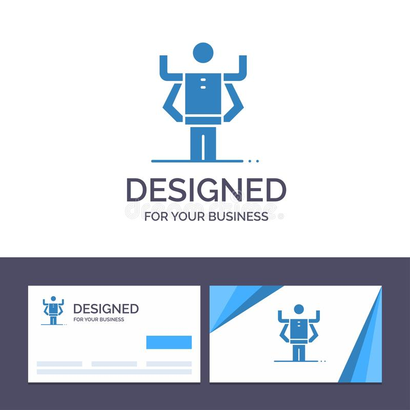 Creative Business Card and Logo template Ability, Human, Multitask, Organization Vector Illustration vector illustration