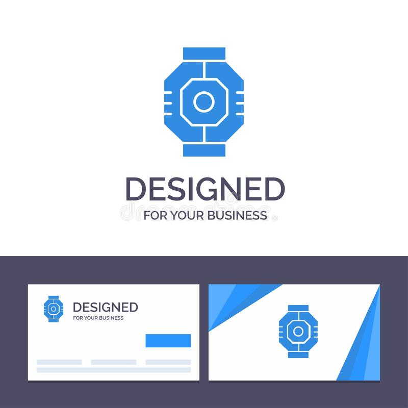 Creative Business Card and Logo template Airlock, Capsule, Component, Module, Pod Vector Illustration royalty free illustration