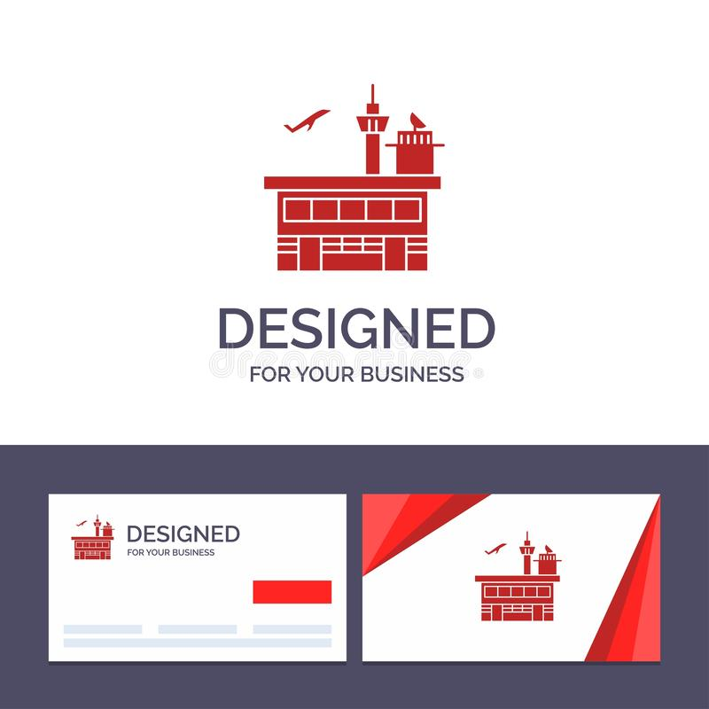 Creative Business Card and Logo template Airport, Conveyance, Shipping, Transit, Transport, Transportation Vector Illustration stock illustration