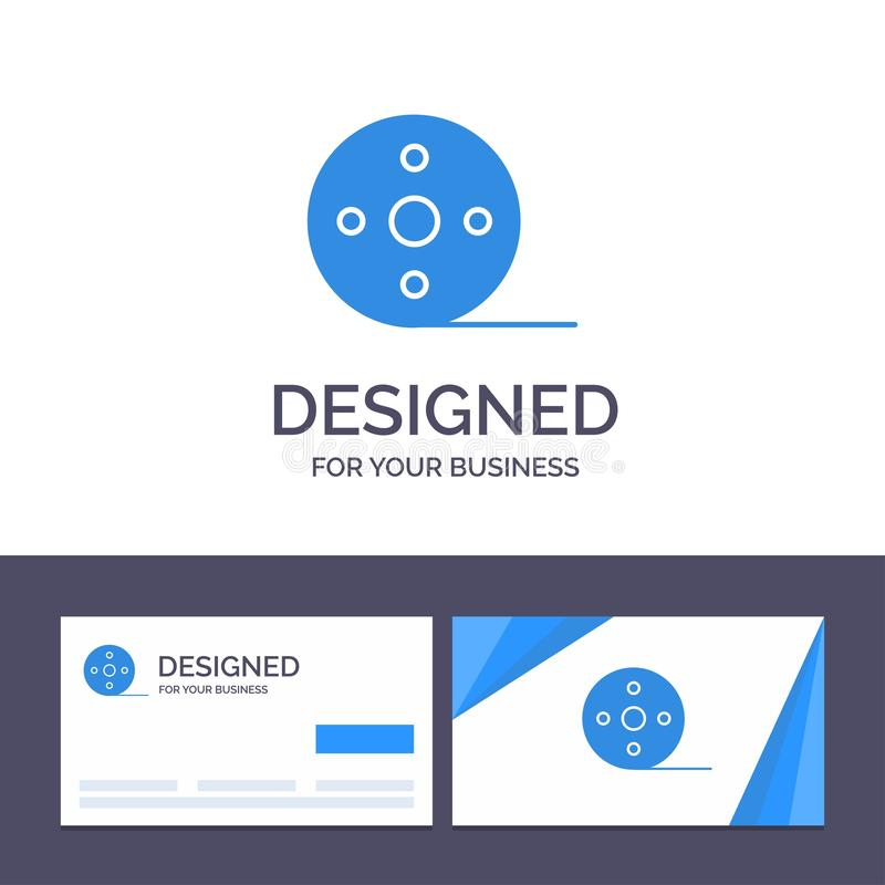 Creative Business Card and Logo template Album, Film, Movie, Reel Vector Illustration royalty free illustration