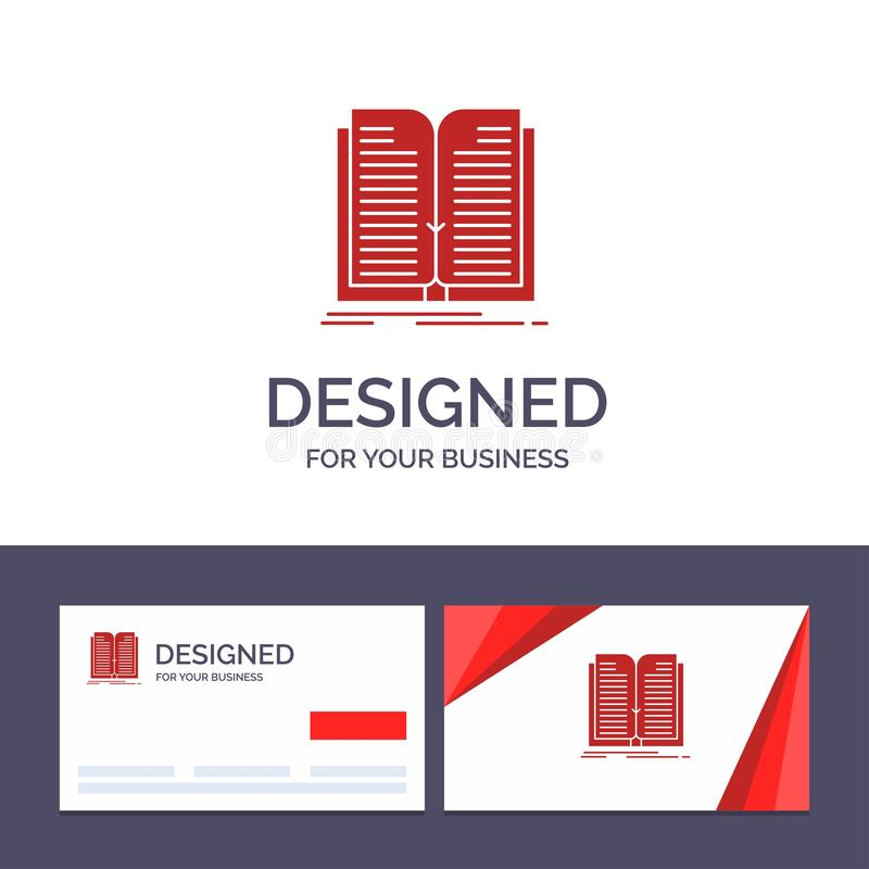 Creative Business Card and Logo template Application, File, Transfer, Book Vector Illustration vector illustration