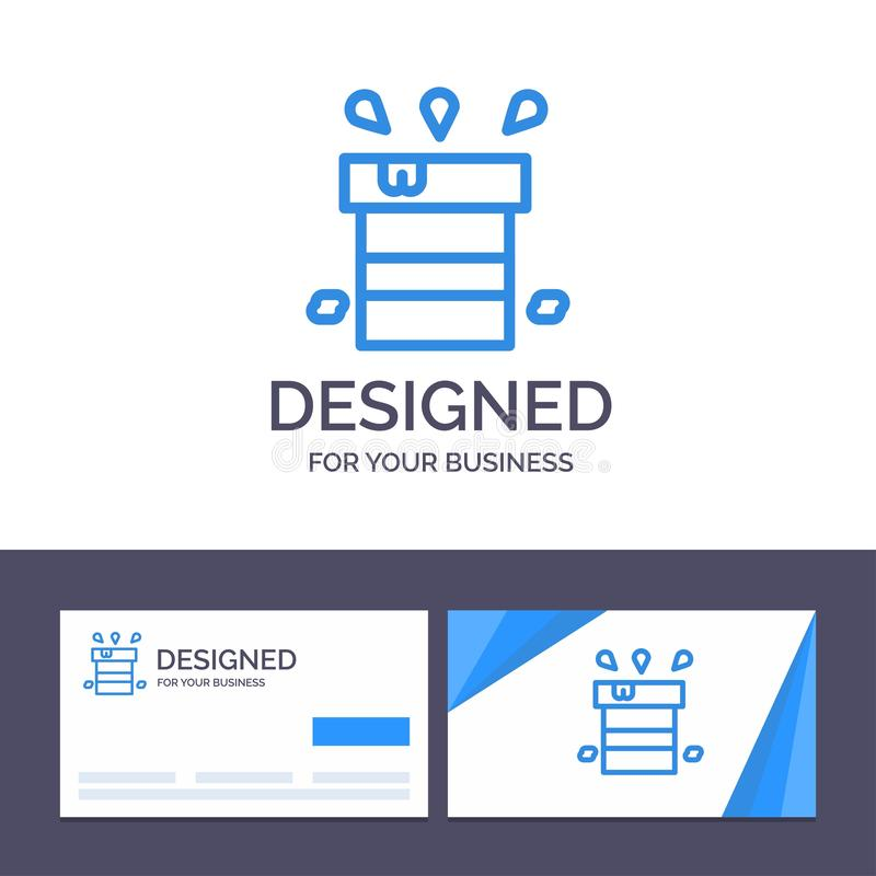 Creative Business Card and Logo template Bag, Dry, Miscellaneous, Resistant, Water Vector Illustration royalty free illustration