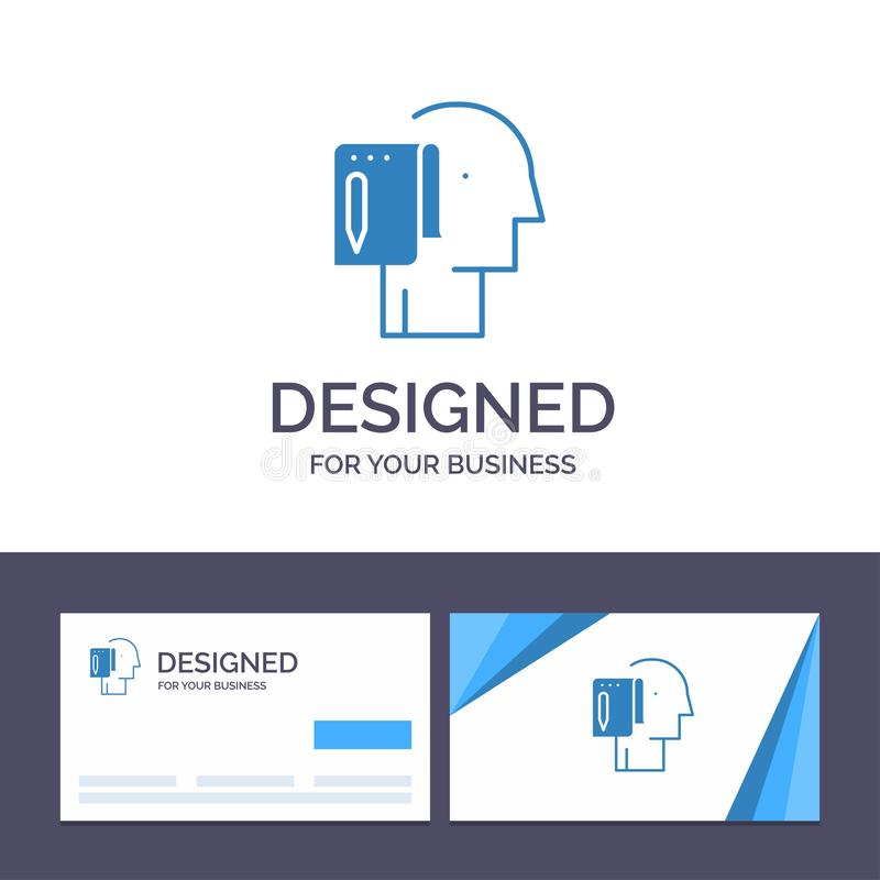 Creative Business Card and Logo template Begin, Start From Scratch, List, Note, Start Vector Illustration royalty free illustration