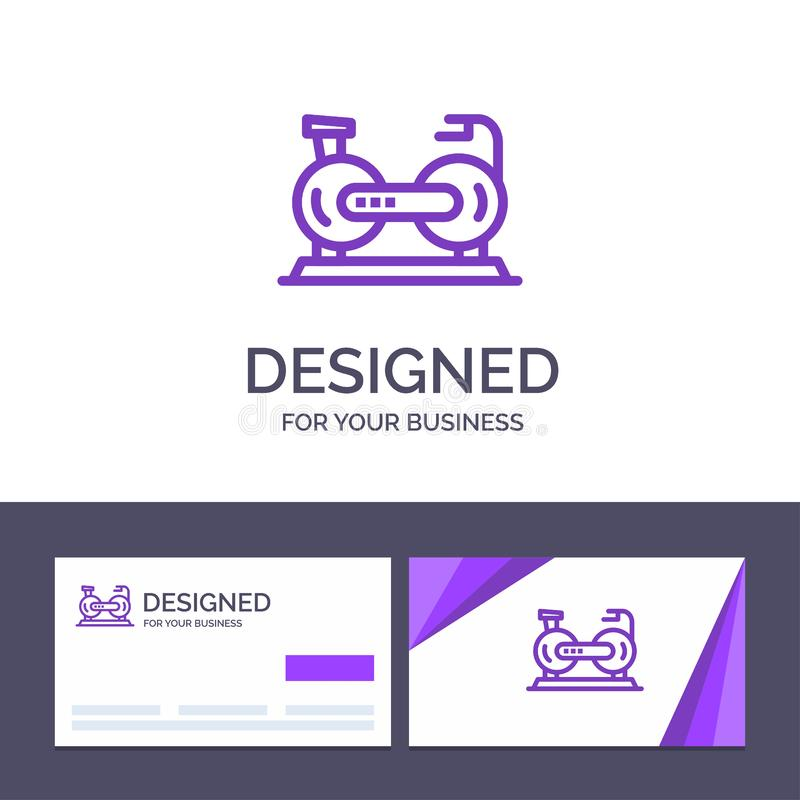 Creative Business Card and Logo template Bicycle, Cycle, Exercise, Bike, Fitness Vector Illustration stock illustration