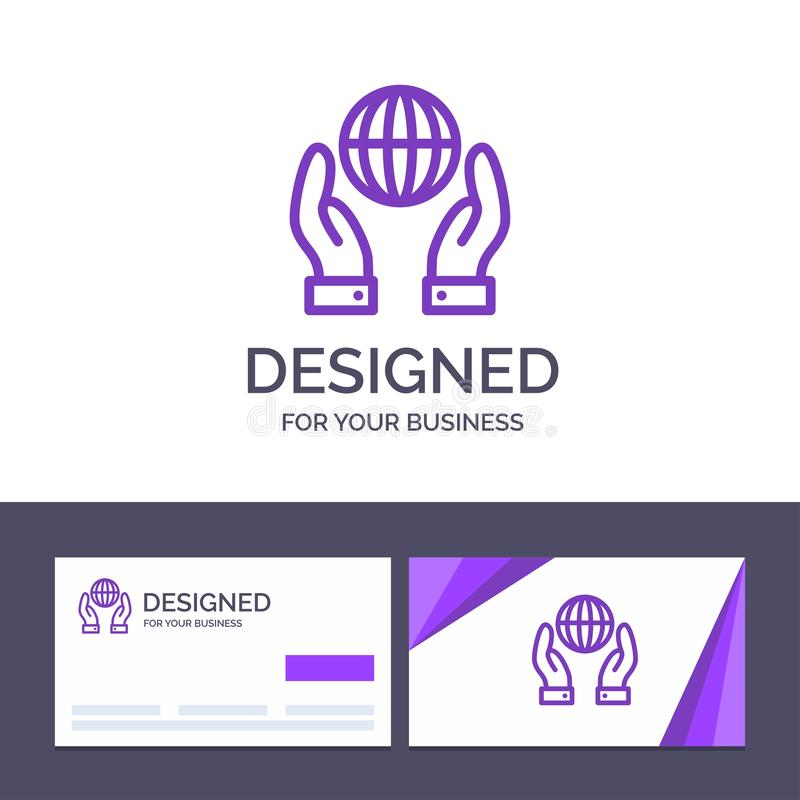 Creative Business Card and Logo template Biosphere, Conservation, Energy, Power Vector Illustration vector illustration