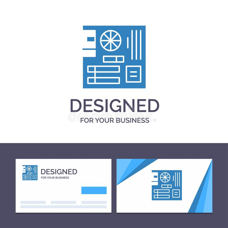 Creative Business Card and Logo template Board, Computer, Main, Mainboard, Mother Vector Illustration vector illustration