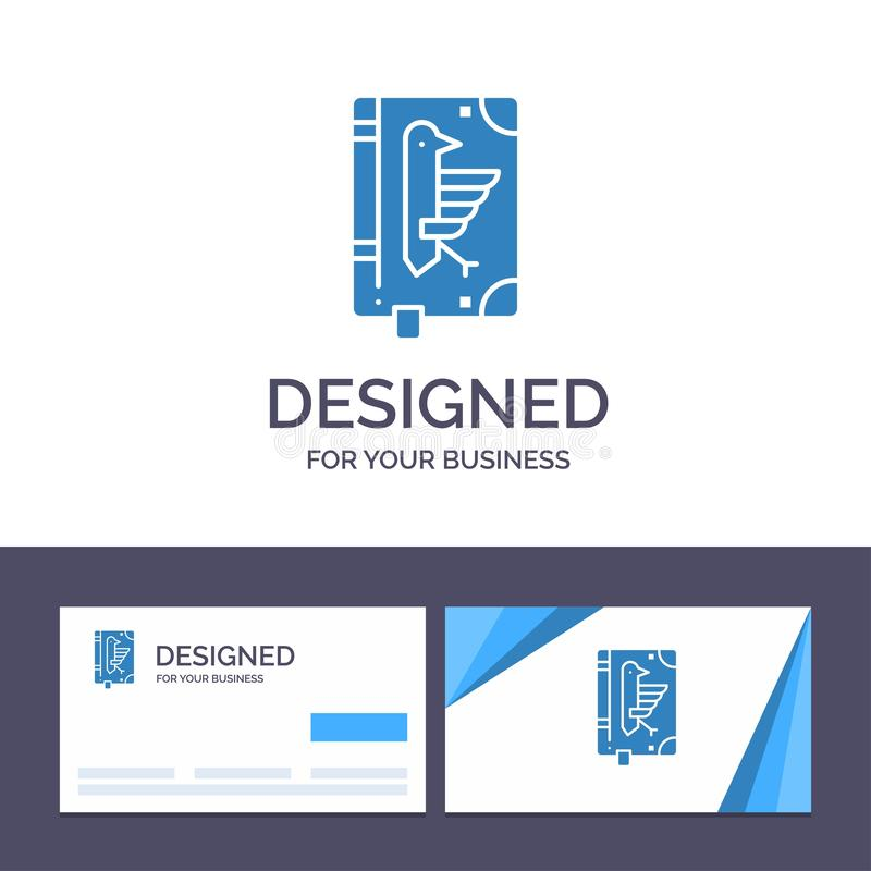 Creative Business Card and Logo template Book, Codex, Constitution, Declaration, Edict Vector Illustration vector illustration