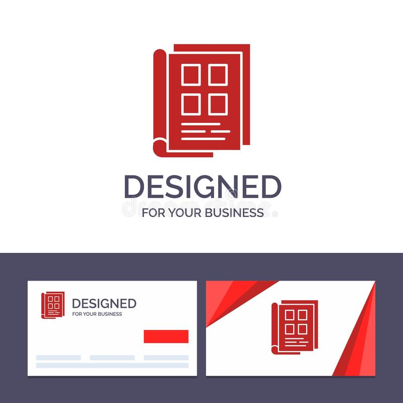 Creative Business Card and Logo template Book, Newspaper, Paper, Notebook, Phonebook Vector Illustration stock illustration
