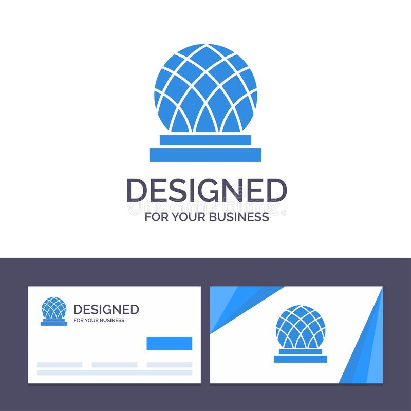 Creative Business Card and Logo template Building, Canada, City, Dome Vector Illustration stock illustration