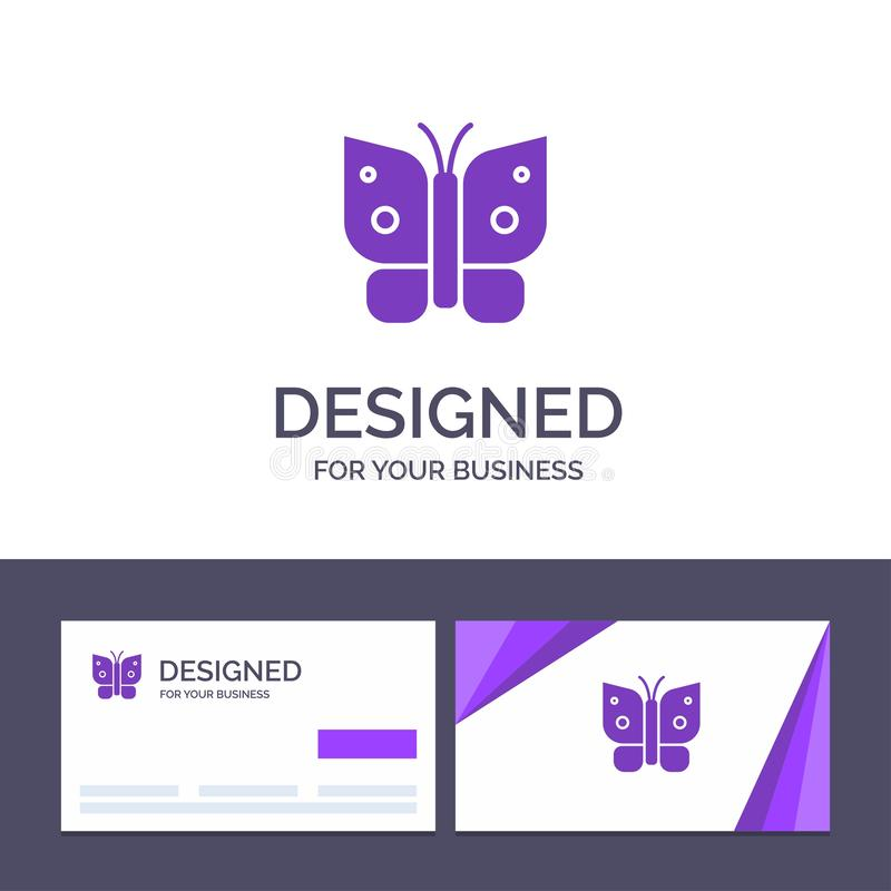 Creative Business Card and Logo template Butterfly, Freedom, Insect, Wings Vector Illustration royalty free illustration