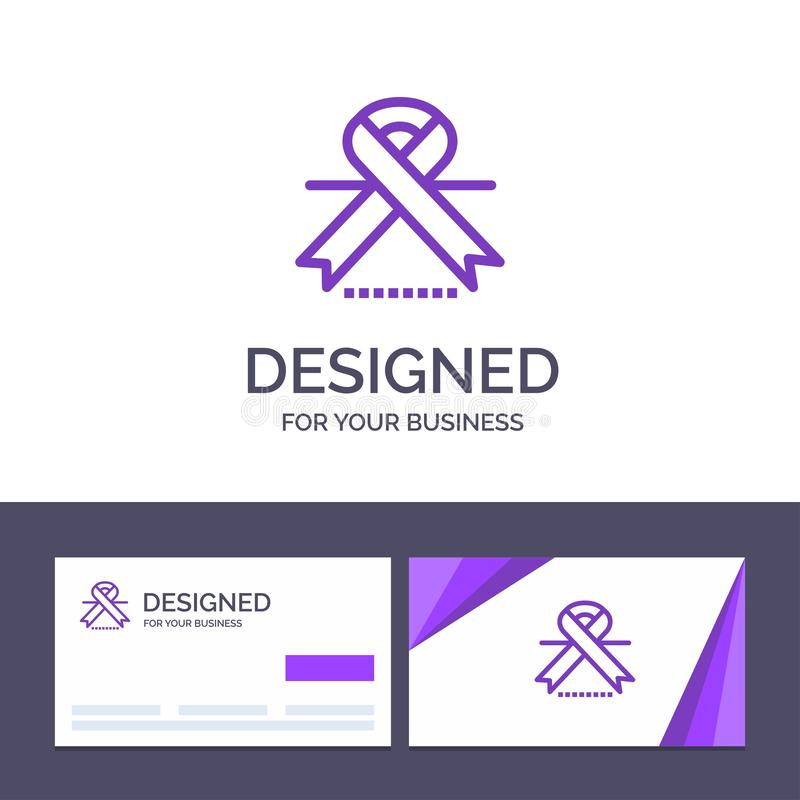 Creative Business Card and Logo template Cancer, Oncology, Ribbon, Medical Vector Illustration vector illustration