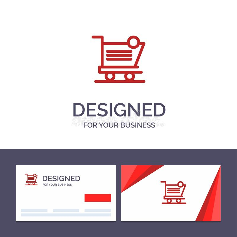 Creative Business Card and Logo template Cart, Shopping, Shipping, Item, Store Vector Illustration royalty free illustration