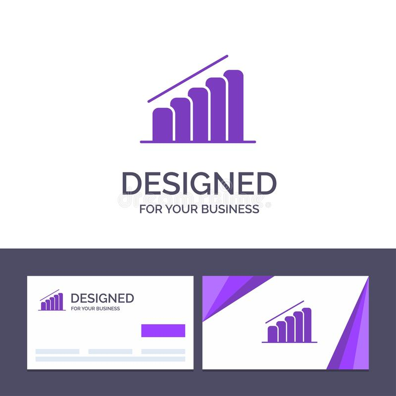 Creative Business Card and Logo template Chart, Progress, Report, Analysis Vector Illustration vector illustration