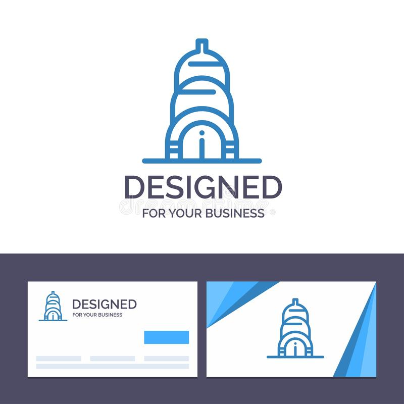 Creative Business Card and Logo template Chrysler, Building, Usa Vector Illustration royalty free illustration