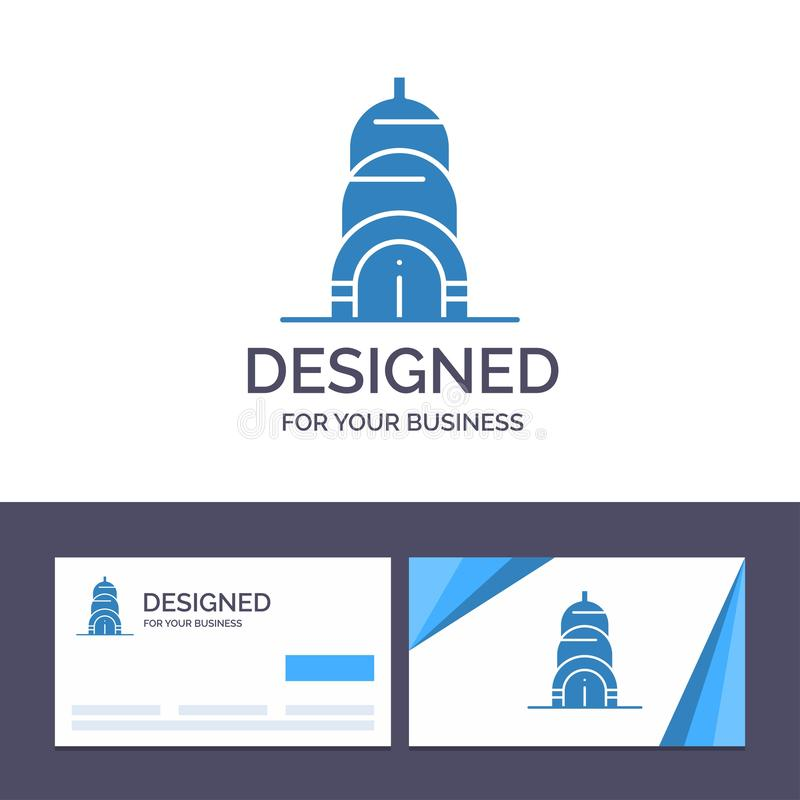 Creative Business Card and Logo template Chrysler, Building, Usa Vector Illustration stock illustration