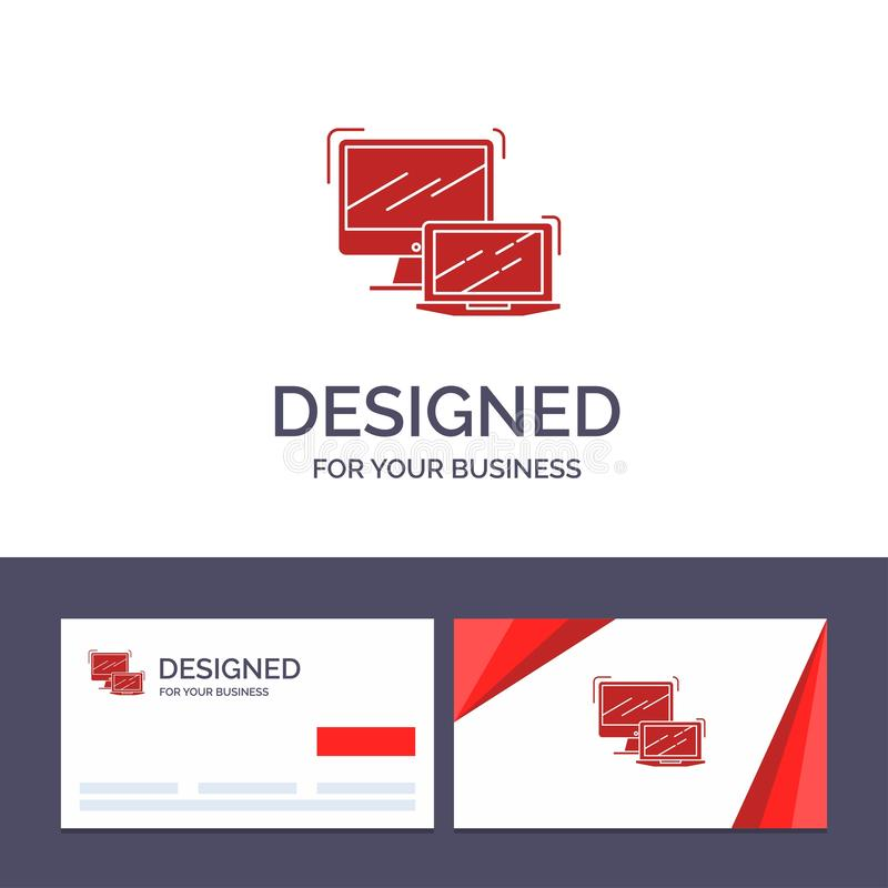 Creative Business Card and Logo template Computer, Business, Laptop, MacBook, Technology Vector Illustration royalty free illustration