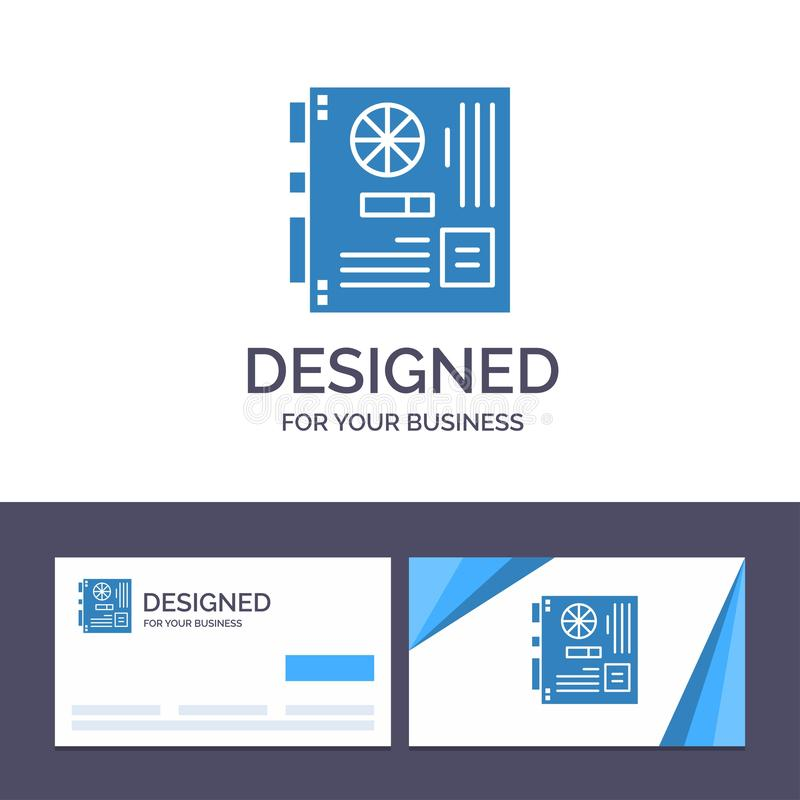 Creative Business Card and Logo template Computer, Main, Mainboard, Mother, Motherboard Vector Illustration vector illustration