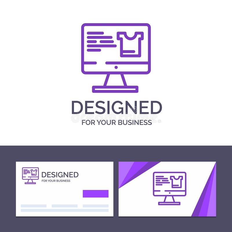 Creative Business Card and Logo template Computer, Screen, Monitor, Shopping Vector Illustration vector illustration