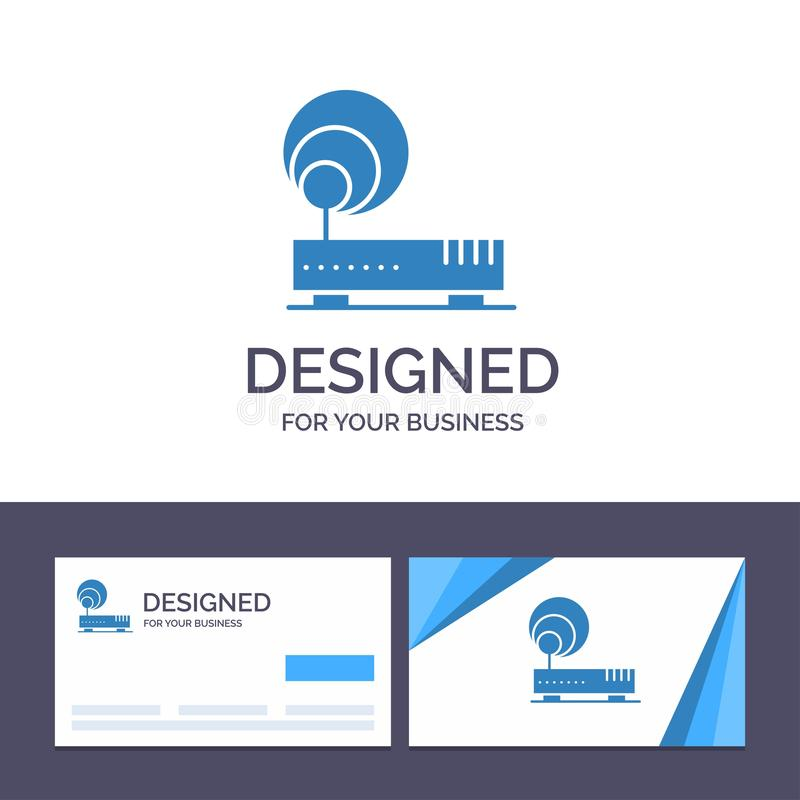 Creative Business Card and Logo template Connection, Hardware, Internet, Network Vector Illustration vector illustration