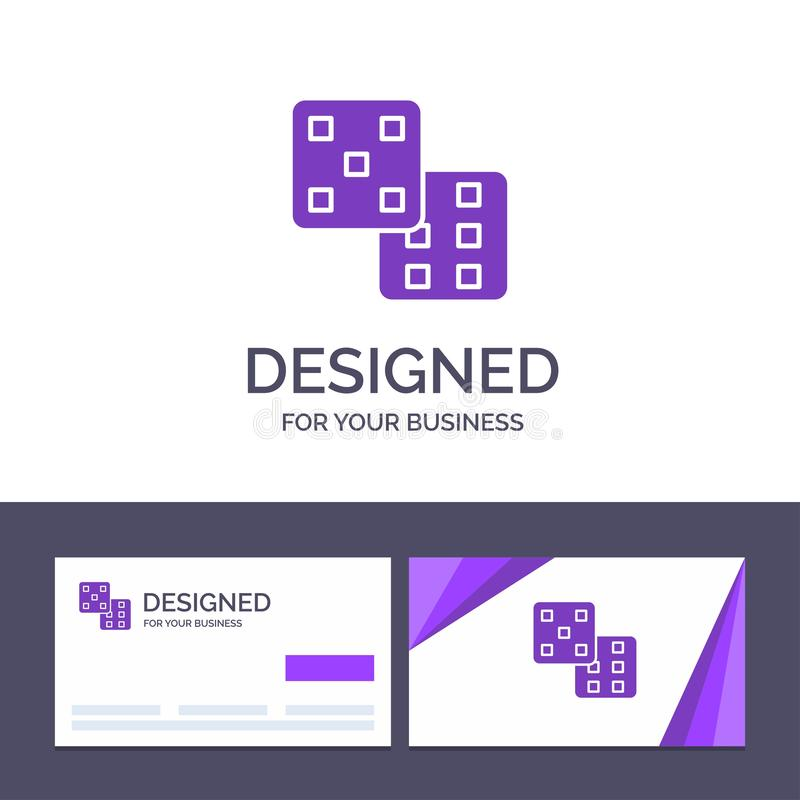 Creative Business Card and Logo template Dice, Gaming, Probability Vector Illustration royalty free illustration