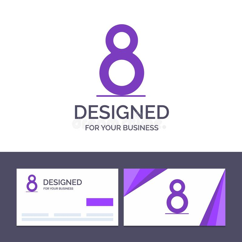 Creative Business Card and Logo template Eight, 8th, 8,  Vector Illustration royalty free illustration