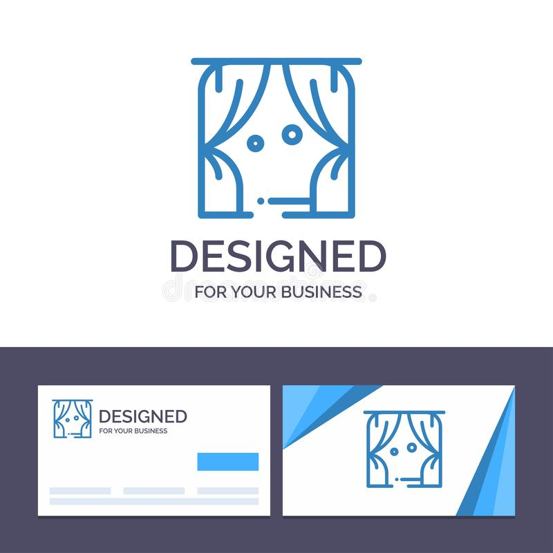 Creative Business Card and Logo template Entertainment, Leisure, Theatre, Usa Vector Illustration stock illustration