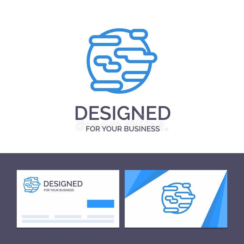 Creative Business Card and Logo template Environment, Help, Poverty, Smoke, World Vector Illustrator бесплатная иллюстрация