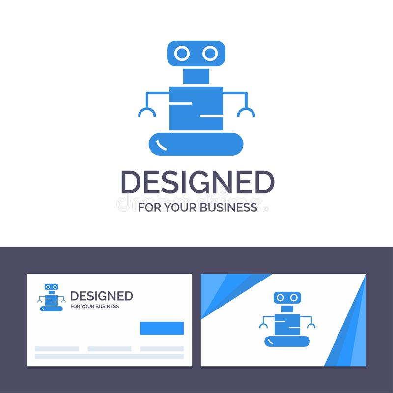Creative Business Card and Logo template Exoskeleton, Robot, Space Vector Illustration stock illustration