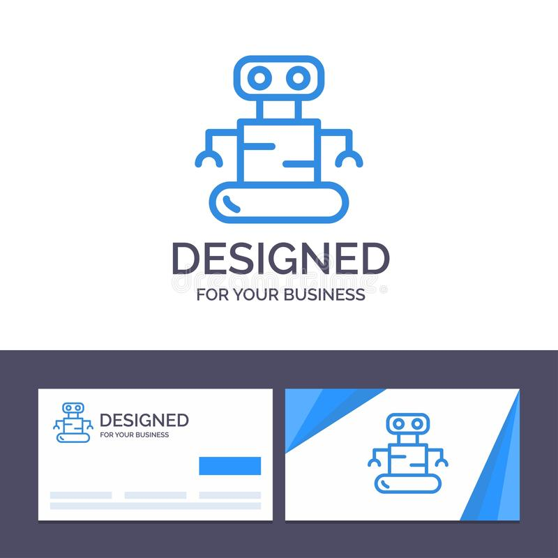 Creative Business Card and Logo template Exoskeleton, Robot, Space Vector Illustration royalty free illustration