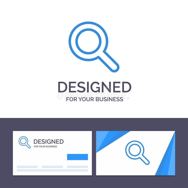 Creative Business Card and Logo template Expanded, Search, Ui Vector Illustration stock illustration