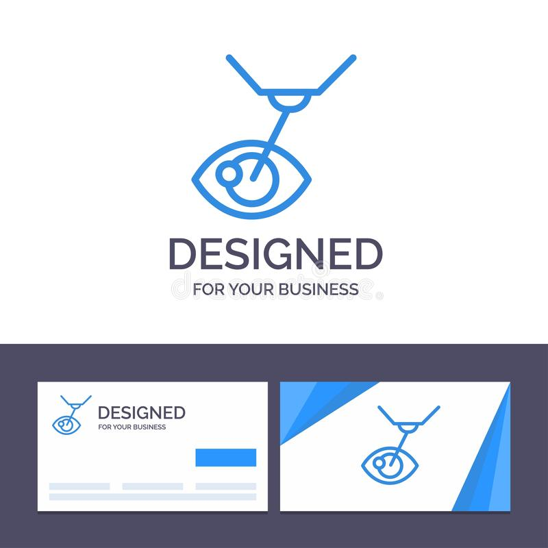 Creative Business Card and Logo template Eye Surgery, Eye Treatment, Laser Surgery, Lasik Vector Illustration royalty free illustration