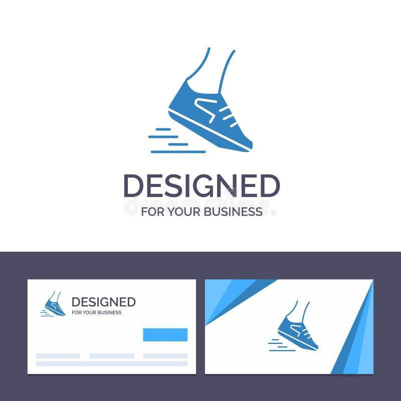Creative Business Card and Logo template Fast, Leg, Run, Runner, Running Vector Illustration vector illustration
