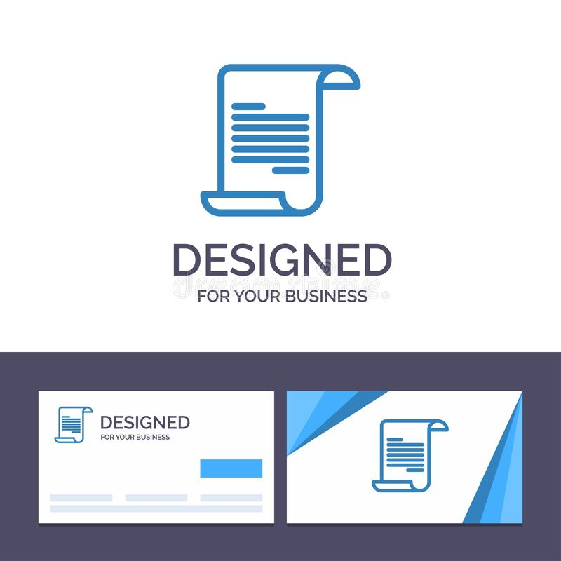 Creative Business Card and Logo template File, Text, Greece Vector Illustration vector illustration