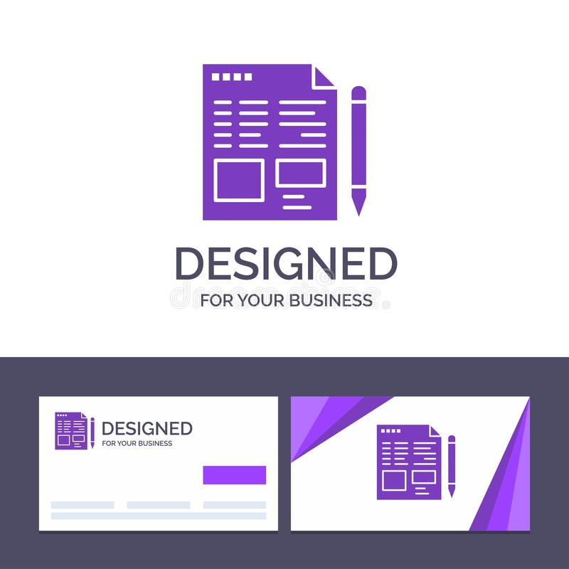Creative Business Card and Logo template File, Text, Pencil, Education Vector Illustration royalty free illustration