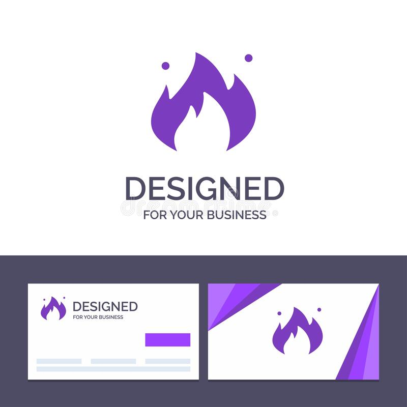 Creative Business Card and Logo template Fire, Industry, Oil, Construction Vector Illustration stock illustration
