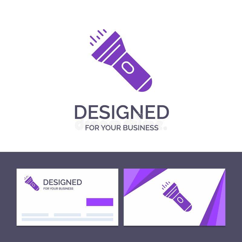 Creative Business Card and Logo template Flashlight, Light, Torch, Flash Vector Illustration royalty free illustration