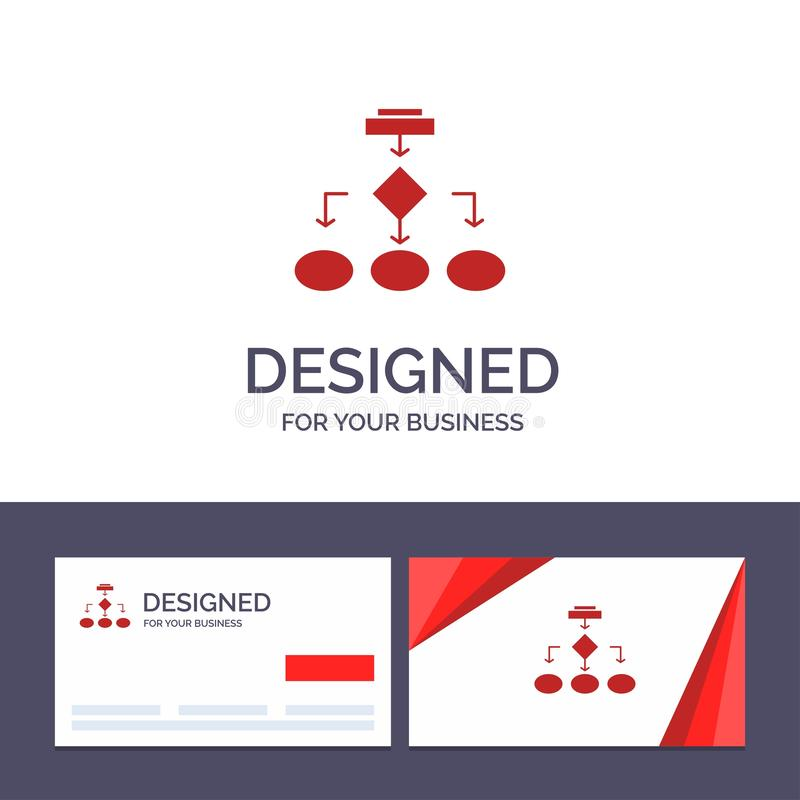 Creative Business Card and Logo template Flowchart, Algorithm, Business, Data Architecture, Scheme, Structure, Workflow Vector vector illustration