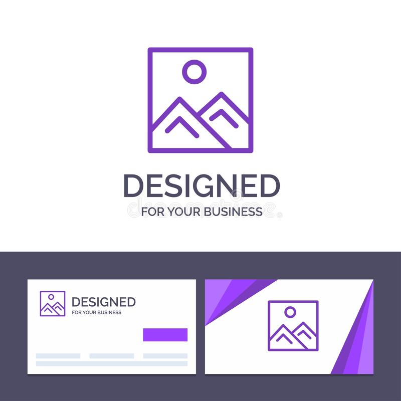 Creative Business Card and Logo template Frame, Picture, Image, Education Vector Illustration royalty free illustration