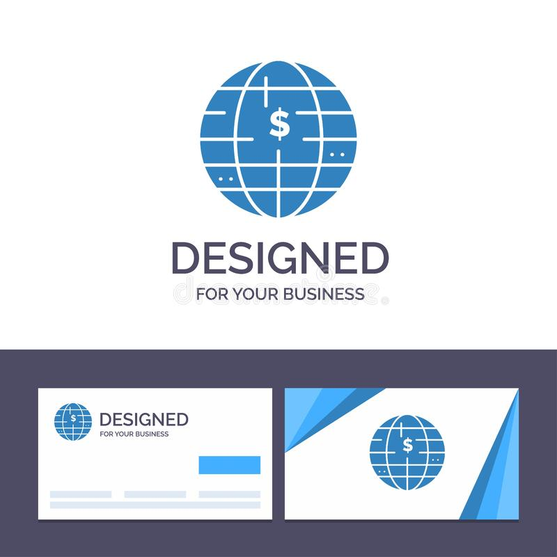 Creative Business Card and Logo template Future Of Money, Bitcoin, Block chain, Crypto currency, Decentralized Vector Illustration royalty free illustration