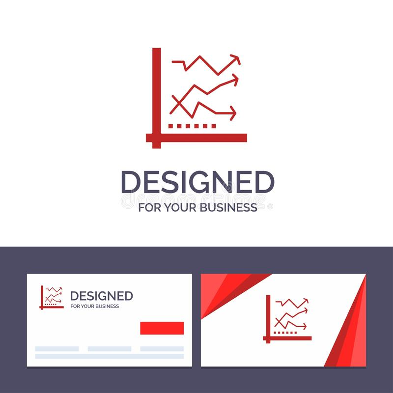 Creative Business Card and Logo template Graph, Analysis, Analytic, Analytics, Chart, Data Vector Illustration vector illustration