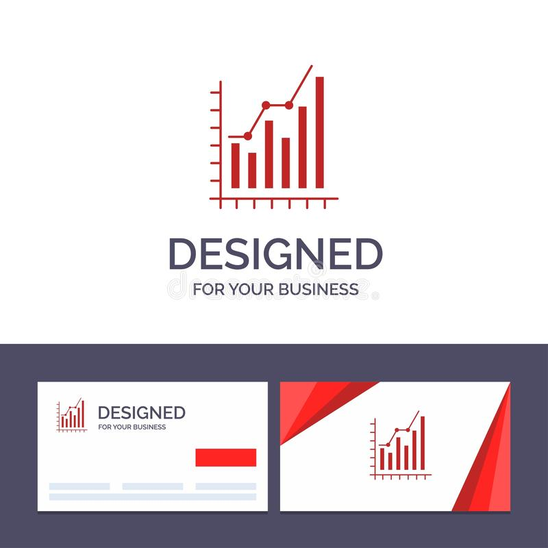 Creative Business Card and Logo template Graph, Analytics, Business, Diagram, Marketing, Statistics, Trends Vector Illustration royalty free illustration