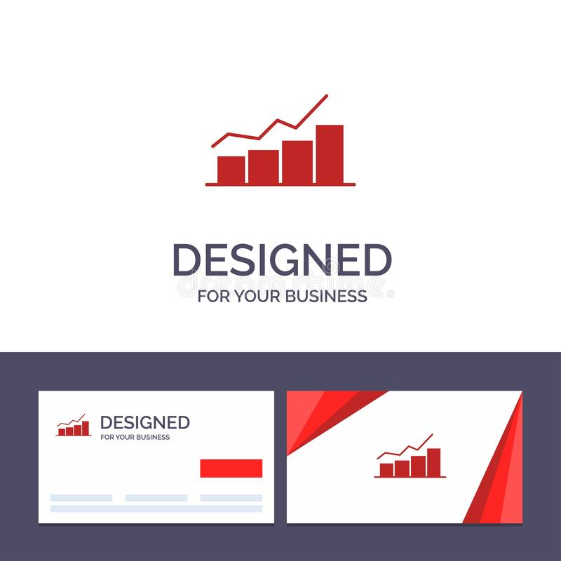Creative Business Card and Logo template Growth, Chart, Flowchart, Graph, Increase, Progress Vector Illustration vector illustration