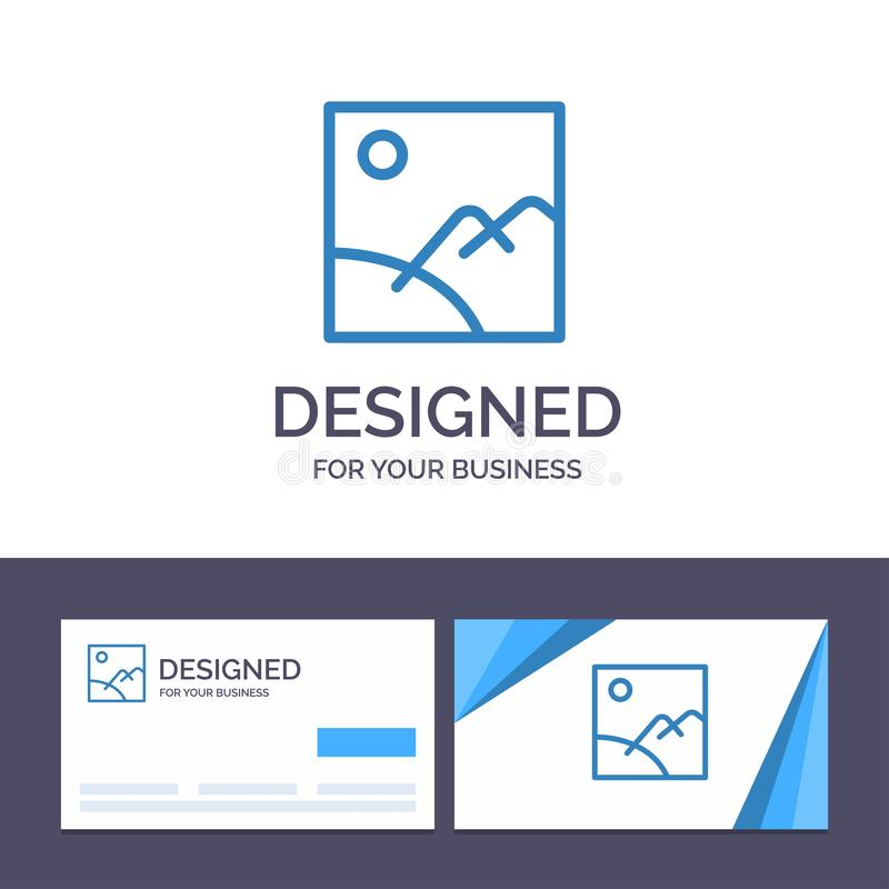 Creative Business Card and Logo template Image, Gallery, Picture, Sun Vector Illustration vector illustration