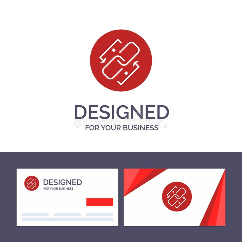 Creative Business Card and Logo template Link, Chain, Url, Connection, Link Vector Illustration stock illustration