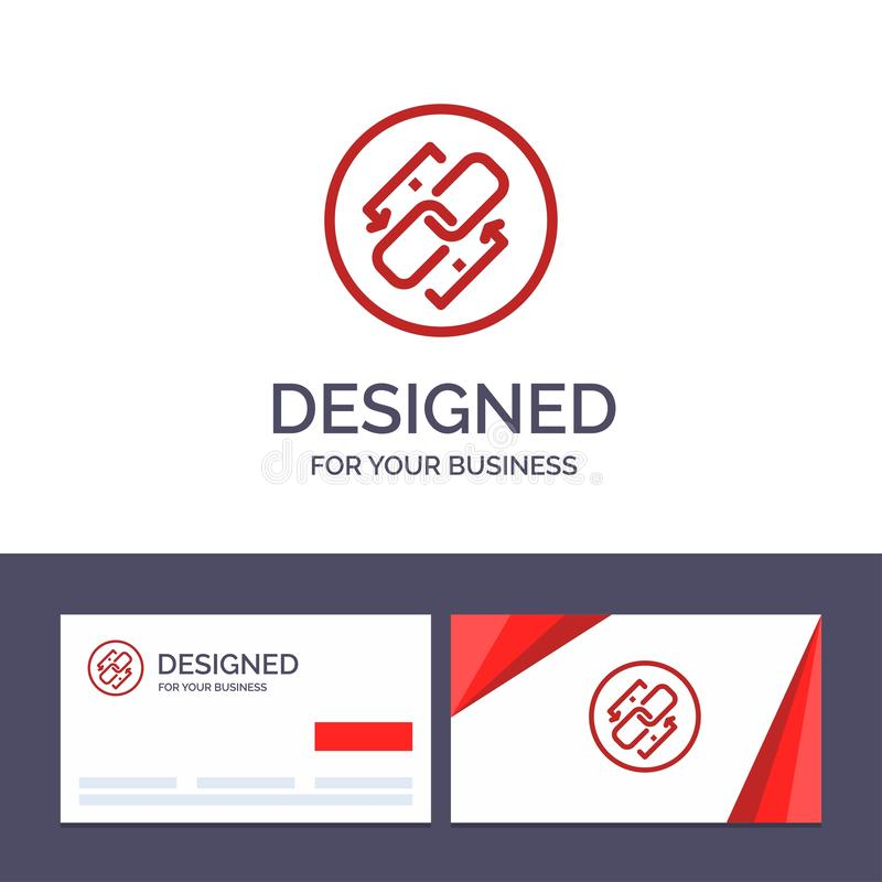 Creative Business Card and Logo template Link, Chain, Url, Connection, Link Vector Illustration royalty free illustration