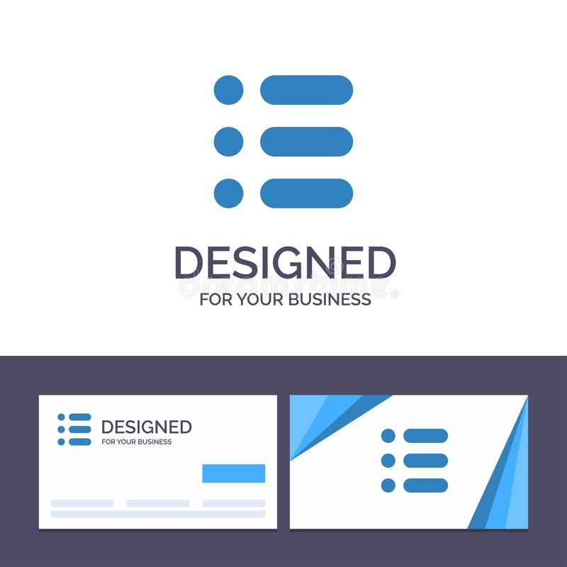 Creative Business Card and Logo template List, Task, Text, Write Vector Illustration royalty free illustration