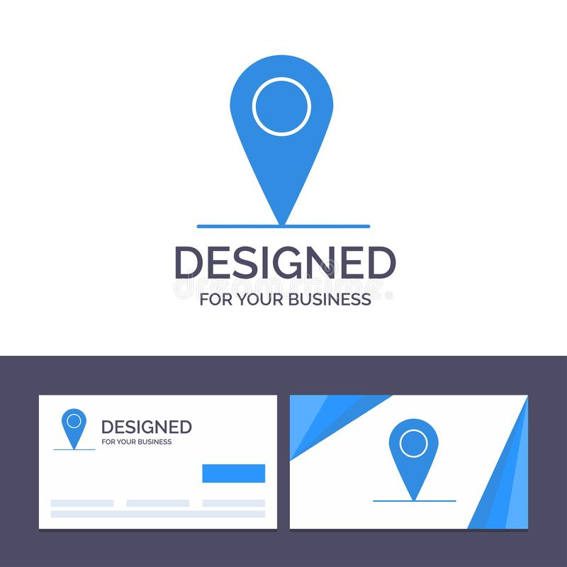 Creative Business Card and Logo template Location, Map, Interface Vector Illustration stock illustration